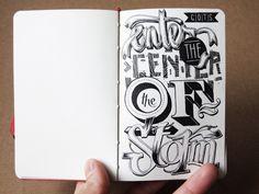 hand lettering in/on my sketchbooks by János Kőrös, via Behance