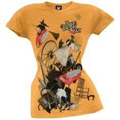 Wizard Of Oz - Collage Juniors T-Shirt