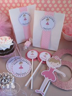My Little Ballerina...Customized Ballet Slipper Party Invitations. $12.00, via Etsy.