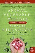 """Animal, Vegetable, Miracle by Barbara Kingsolver and Steven L. Hopp and Camille Kingsolver:  After 25 years in the Arizona desert, in 2004, Kentucky-bred Barbara Kingsolver moved back to the Appalachians, to a Virginia farm just hours from her childhood home. Family called. """"Returning,"""" she explains in Animal, Vegetable, Miracle, """"would allow my kids more than just a..."""