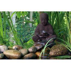 Buddha suihkukaivo, vesiaihe Buddha, Shanghai, Feng Shui, Garden Sculpture, Statue, Led, Outdoor Decor, Sculptures, Sculpture