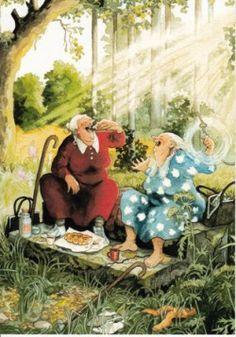 Oma's aan het picknicken
