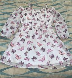 Girls Dress size 10/12 | Mercari Dresses Kids Girl, Happy Kids, Clothes For Sale, Kids Girls, Off The Shoulder, Butterflies, Floral Tops, Size 10, Children