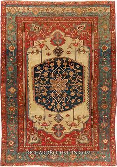 Antique Serapi Oriental Rug Size: x Persian Carpet, Persian Rug, Mid Century Rug, Cheap Rugs, Textiles, Textile Patterns, Rustic Rugs, Patterned Carpet, Home Rugs