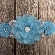 Aqua and grey sash, blue and grey maternity sash, maternity sash, aqua and grey maternity sash, baby shower sash Baby Shower Azul, Baby Shower Sash, Elephant Baby Showers, Baby Elephant, Flower Belt, Maternity Sash, Grey Ribbon, Twinkle Twinkle Little Star, Baby Shower Centerpieces