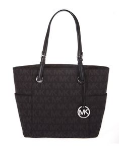 http://www.dillards.com/product/MICHAEL-Michael-Kors-Jet-Set-EastWest-Signature-Tote_301_-1_301_502827260?df=03631509_zi_beige_black_black    Michael Kors Jet Set East West Tote in Black with Silver Hardware