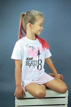 My Heart Beats In 8 Counts Girls Dance Shirt by HopscotchKidzUK