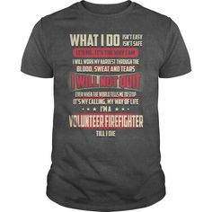 Volunteer #Firefighter Job Title Tshirt/Hoodie. | YeahTshirt.com