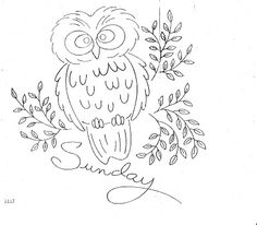 Owl #embroidery #pattern