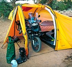 Camping with the GS Adventure