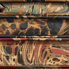 marbled book edges (bookdecorbooks) Instagram