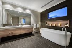 The Bayfield residence 10 Modern Design Enhanced by Elements of Surprise: Bayfield Residence Bathroom Photos, Modern Bathroom, Small Bathroom, Bathroom Ideas, Bad Inspiration, Bathroom Inspiration, Dream Home Design, House Design, Luxury Homes Dream Houses