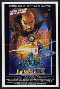 Flash Gordon movie poster for media room