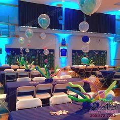 Under the sea balloon bubble Centerpieces #PartyWithBalloons