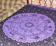 Purple Zodiac Astrology Tapestry
