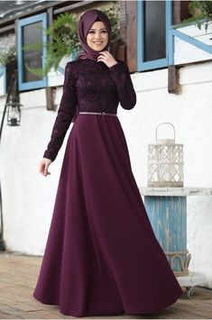 İmge Fuşya Elbise – Al – Marah - Pakistani dresses Muslim Prom Dress, Hijab Evening Dress, Hijab Dress Party, Hijab Style Dress, Dress Outfits, Sporty Outfits, Abaya Fashion, Muslim Fashion, Fashion Dresses