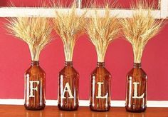 fall wheat wine glass