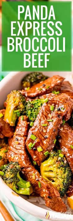 Panda Express broccoli beef is a salty, sweet stir fry that will get your taste buds dancing. Make this recipe for a quick and easy dinner! #BroccoliBeef #PandaExpressCopycat Asian Recipes, Beef Recipes, Cooking Recipes, Healthy Recipes, Ethnic Recipes, Copycat Recipes, Oriental Recipes, Chinese Recipes, Quick Recipes