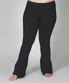 Take a look at this Black Band Lounge Pants - Plus by Lola Getts on #zulily today!