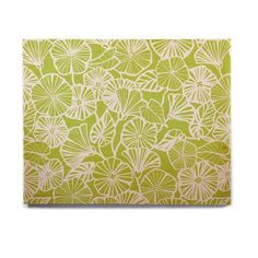 East Urban Home Floral 'Vine Shadow - Lime' Graphic Art Print on Wood