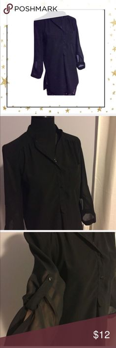 Truth NYC Black Blouse See through Blouse. Made in India. Excellent condition. Tops Blouses
