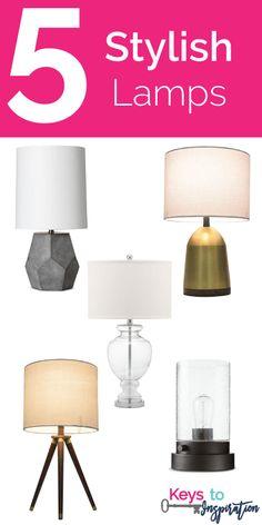 Friday 5 - Stylish Lamps