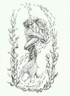 Drawing Mermaid Sirens Coloring Pages Ideas Mermaid Sketch, Mermaid Drawings, Mermaid Tattoos, Art Drawings, Drawings Of Mermaids, Pirate Mermaid Tattoo, Watercolor Mermaid Tattoo, Mermaid Tattoo Designs, Mermaid Artwork