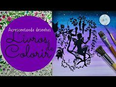 Livros de Colorir: Céu noturno - Silhueta - Lua - YouTube