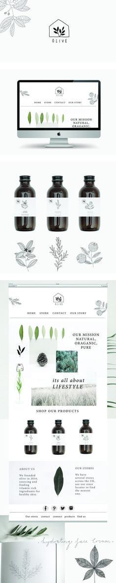 Olive branding and website by Ryn Frank http://www.rynfrank.co.uk