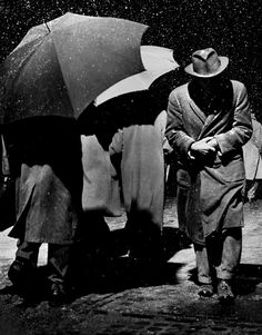 Snowstorm, New York City, 1950, photo by Dennis Stock