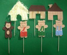 teatrinho 3 porquinhos - Atividades para Educação Infantil Kids Crafts, Diy Crafts To Do, Preschool Activities, Three Little Pigs, Creative Play, Infant Activities, Diy Toys, Diy For Kids, Fairy Tales