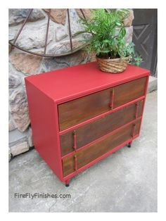 From frumpy baby changing stand to mid century wow.
