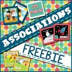 Freebie:  Target auditory association, reasoning and verbal skills by listening to one description and matching it to objects that go together and explain why.