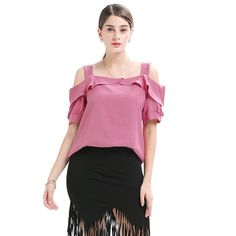 Buy Now (Boat Neck Solid Ruffles Strap Blouse) from Sheetag - http://www.sheetag.com/product/boat-neck-solid-ruffles-strap-blouse/