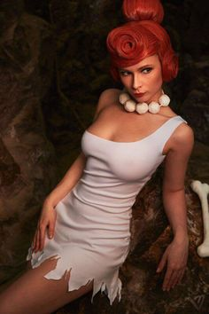 "Character: Wilma Flintstone / From: Hanna-Barbera's 'The Flintstones' Cartoon / Cosplayer: Jannet Vinogradova (aka Princess Ryofu, aka Jannet-Sorekage, aka Jannet ""Incosplay"" Vinogradova) / Photo: Makar Vinogradov 2015 Cosplay Outfits, Cosplay Girls, Cosplay Costumes, Batman Christian Bale, Amazing Cosplay, Best Cosplay, Batman Begins, Geeks, Wilma Flintstone"