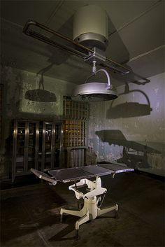 Inside the medical building on Alcatraz