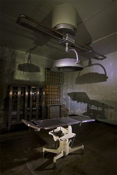 Inside the medical building on Alcatraz