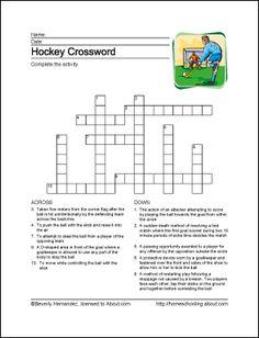 Hockey Printables - Hockey Wordsearch. Print the Hockey Word Search and find the Hockey related words.: Hockey Crossword Puzzle