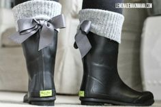 Add grommets and bows to your rain boots.