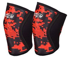 Knee Sleeves (Pair) Powerlifting Weightlifting Patella Support Brace Protector S (Red & Black Sublimated, Small) BeSmart http://www.amazon.co.uk/dp/B018BKF93I/ref=cm_sw_r_pi_dp_cxXuwb0PYS0R5