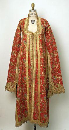 Turkish Yelek, first half 19th century Culture: Turkish Medium: wool, metallic and silk thread, cotton, metal