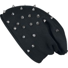 Studded Light Beanie - Czapka - Black Premium by EMP Gothic Outfits, Emo Outfits, Grunge Outfits, Cute Outfits, Black Women Fashion, Emo Fashion, Gothic Fashion, Womens Fashion, Fashion Online