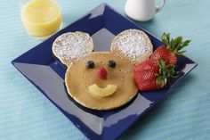 Beloved son's fave food. Mickey Pancake with Mapple syrup. yum #cruisetipswithkids