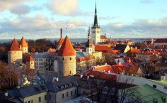 Vista geral de Tallinn, Estônia