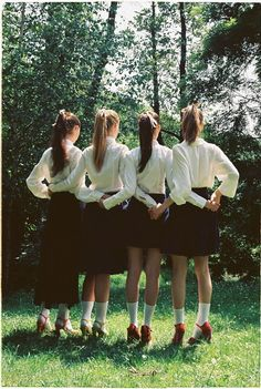 grimbaud high girls used the warm weather as an  excuse to roll up their skirts