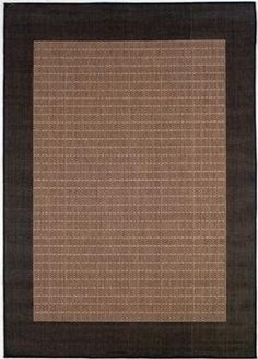$5 Off when you share! Couristan Recife Checkered Field Cocoa Rug