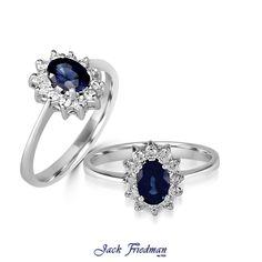 Sapphire and diamond halo engagement ring jackfriedman.co.za Halo Diamond Engagement Ring, Beautiful Things, Sapphire, Vintage, Jewelry, Jewlery, Jewerly, Schmuck, Jewels