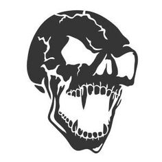 T-shirt motifs - online printing - - Skull Stencil, Stencil Art, Stencils, Metal Drawing, Brush Tattoo, Heavy Metal Art, Skull Pictures, Skull Artwork, Stencil Templates