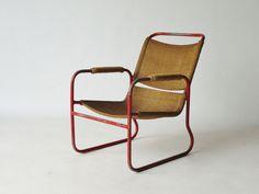 Rare Bas Van Pelt Dutch 1920s Modernist chair. Available now at Merzbau.