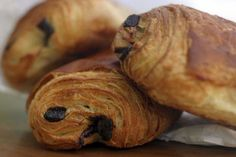 Picture of Pain au Chocolat - A croissant filled with chocolate! Tasty and delicious traditional French breakfast pastry, fresh from the bakery. stock photo, images and stock photography. Chocolat Recipe, French Croissant, Croissant Bread, Traditional French Recipes, French Dessert Recipes, Desserts Menu, French Food, Afternoon Snacks, French Kitchen